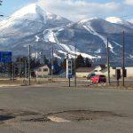 4月に入っても、雪景色の会津磐梯山
