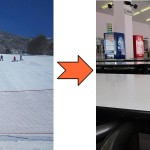 スキーウエア 衿のしみ抜き