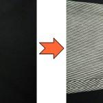 黒カビ点々のしみ抜き