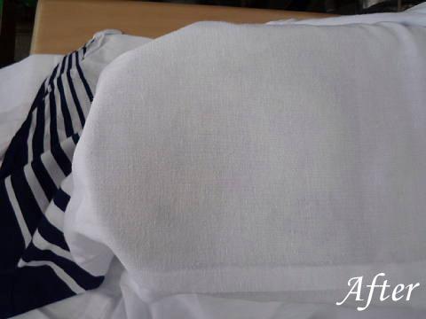 浴衣の移染を染み抜き
